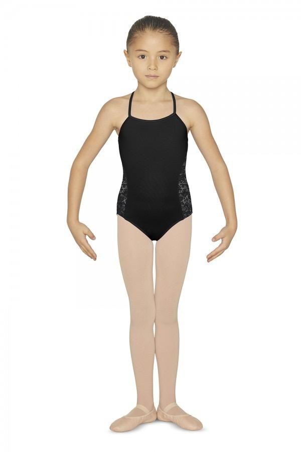 Bloch Features<br /> <br /> Printed floral mesh panels<br /> Cross back<br /> Nylon mix<br /> Ballet leg line<br /> <br /> Fabric<br /> <br /> Main - 90% Nylon, 10% Spandex<br /> Contrast - 90% Nylon, 10% Spandex floral print mesh