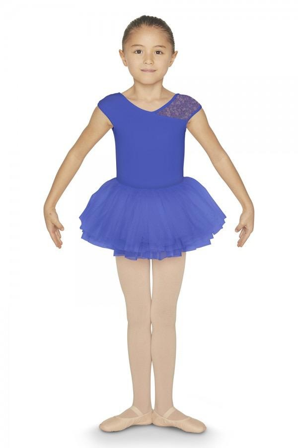 Bloch Features<br /> <br /> Cap sleeve leotard crafted from durable Polyester mix fabric<br /> Crossover back design with one printed mesh cap sleeve and one opaque cap sleeve<br /> Nylon mix<br /> Printed mesh on crossover back<br /> <br /> Fabric<br /> <br /> Main - 88% Polyester, 12% Spandex<br /> Contrast 1 - 90% Ny