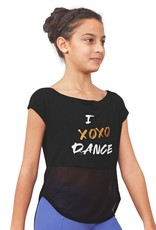 Bloch FT5175C  I XOXO DANCE, Open Back Tie Back T-Shirt …On Sale ! !