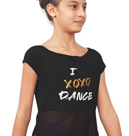 Bloch Bloch FT5175C  I XOXO DANCE, Open Back Tie Back T-Shirt