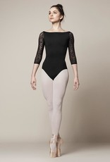 Bloch Features<br /> <br /> Wide neckline<br /> Princess line detail<br /> Ballet leg line<br /> Open mesh back<br /> ¾ length sleeves<br /> Nylon mix<br /> <br /> Fabric<br /> <br /> Main - 90% Nylon, 10% Spandex<br /> Contrast - 66% Nylon, 34% Spandex Olivina Lace