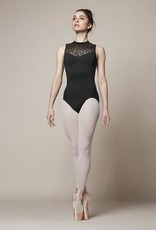 Bloch Style: M3070LM High Neck<br /> This high neck leotard from Mirella comes in a comfortable tank style with a Oliviana lace neck and lace crossover back. This leotard closes at the neck with a hook for easy wear.