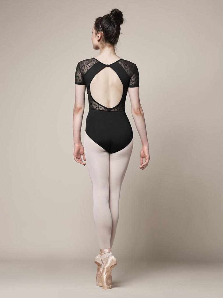 Bloch Delicate detailing such as embroidered mesh cap sleeves and a stunning, open embroidered mesh back, make this style a firm favourite among fashion-conscious dancers. A small clip fastening at the top of the back keeps the piece secure as you dance.