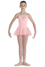 Bloch Girl's double layer heart mesh skirt and solid waistband is an adorable addition to any dance outfit. Two layer pull on skirt features heart mesh top layer over plain tulle. Flat, soft covered waistband for extra comfort.