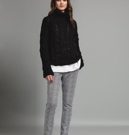 Pistache Pistache M3261 Chunky Cable Knit Sweater