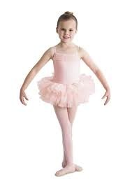 Bloch Girl's adorable camisole tutu dress with ruffle bust detailing is available in four classic ballet colors for the young dancer.