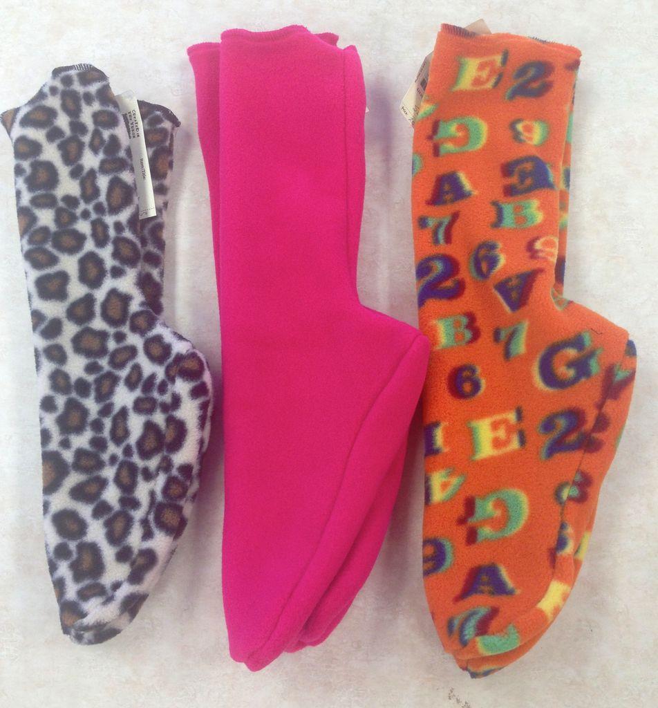 Sportees Sportees Children-2 Way Stretch 200 Weight Fleece Socks-Size 4
