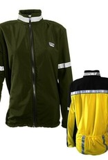 Sportees Athletic Cycling Jacket Fit w/ Nylon Front & Lycra Back-Size M