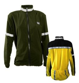 Sportees Sportees Athletic Cycling Jacket Fit w/ Nylon Front & Lycra Back-Size M