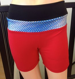 Sportees Sportees Athletic Fit Yoga Shorts with Wide Waistband- Size S-Extra