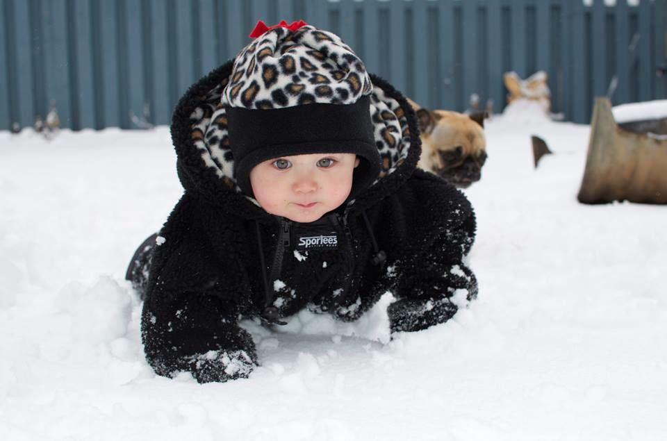 Sportees Super warm snowsuit for toddlers.