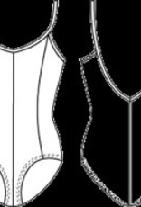 Bloch M207CD-Mirella-Seamed-Camisole-Leotard/Bodysuit
