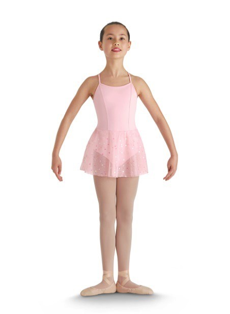 Bloch Bloch CL8190 Sequin Tulle x-Bck Skirted Leotard