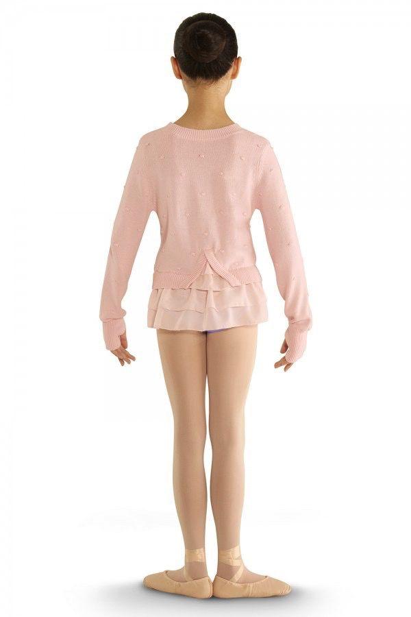 Bloch Bloch CZ6929 Bubble Knit Long Sleeve Peplum Sweater CHILD
