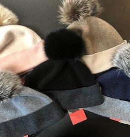 Canadian Hat Company Ltd. Canadian Hat Company Odette- Ormos Beanie with Fox Pom Pom