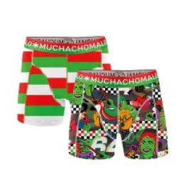 Muchachomalo Muchachomalo-Men's-Under-Shorts-Cotton 2 pack, MOTO, S