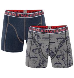 Muchachomalo Muchachomalo-Men's-Under-Shorts-Cotton 2 pack, JEANS, S