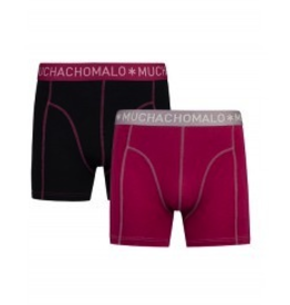 Muchachomalo Muchachomalo-Men's-Under-Shorts - 2 pack - Cotton/Modal, RUBY, S