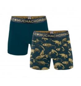Muchachomalo Muchachomalo-Men's-Under-Shorts - 2 pack - Cotton/Modal, CHAMELEON, S