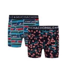 Muchachomalo Muchachomalo-Men's-Under-Shorts - 2 pack - Cotton/Modal, ASIA, XXL