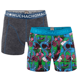 Muchachomalo Muchachomalo-Men's-Under-Shorts-Cotton 2 pack, NEVER1, S