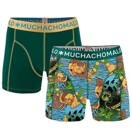 Muchachomalo Muchachomalo-Men's-Under-Shorts-Cotton 2 pack, SAFARI1, S