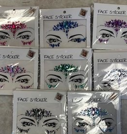 Rhinestone Face Sticker  - resembling a mask