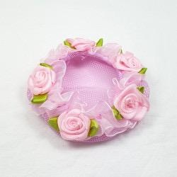 Pink Bun Cover with Rose