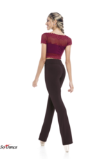 So Danca Beautiful! Lace Sleeved Crop Top