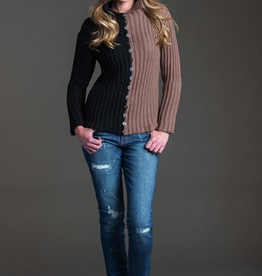 Pure Handknit Pure Handknit 4550-Abstract-Sweater   - ON SALE ! !, BLK/WORG379, M/L