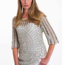 Pure Handknit Pure Handknit 4489-Gypsy-Crochet-Pullover   - ON SALE ! !Pure Handknit 4489-Gypsy-Crochet-Pullover, CREAM07, L/XL