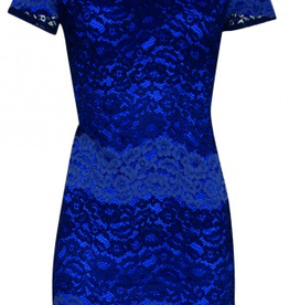 Smashed Lemon Smashed Lemon 18093-03 Blues Lace Dress  ON SALE !!, BLUES, M/38
