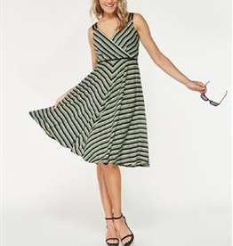 Smashed Lemon Smashed Lemon 18144-09 Greens Striped Dress ON SALE !!, GREENSTRIPE, XL/42