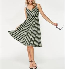 Smashed Lemon Smashed Lemon 18144-09 Greens Striped Dress ON SALE !!, GREENSTRIPE, XL/42