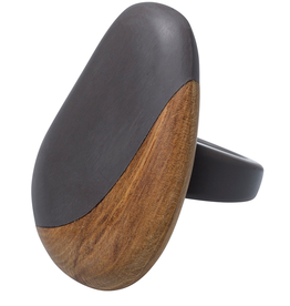 ELK Elk Resin and Wood RingElk Resin and Wood Ring, FLINTGREY, O/S