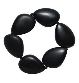 ELK Elk Resin Simple Stretch Disc BraceletElk Resin Simple Stretch Disc Bracelet, BLACK, O/S