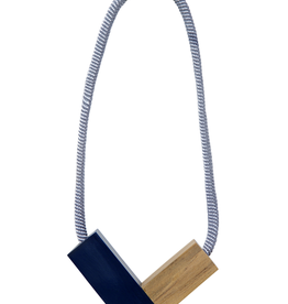ELK Elk Wood and Resin Rope Necklace, WHITE, 0/S