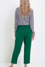 ELK - 100% Bamboo, offers soft drape <br /> - Ankle cuff detail <br /> - Wrap front pant with double button closure