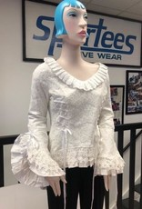 1 Victorian bodice with lace overlay (cotton, lace and poly satin)