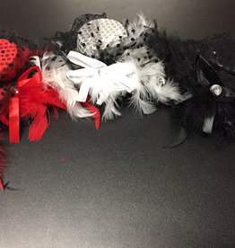 Top Hat with Feathers and Sequins