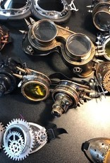 assorted collection of Steampunk costume googles