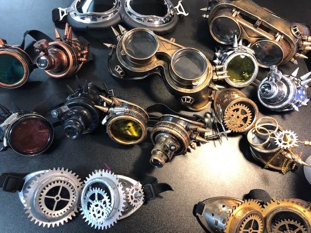 Beyond Masquerade assorted collection of Steampunk costume googles