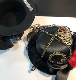 Beyond Masquerade Masquerade Steampunk Tiny Hat with Gears