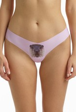 Commando Our women's thong with photo-realistic prints is designed with our best-selling, raw-cut microfiber! These undies are fun, fabulous, and supremely comfortable.