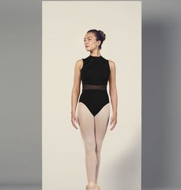 Bloch Bloch L4985 High Neck, Mesh Waist, Open Back, Tank Leotard / Bodysuit