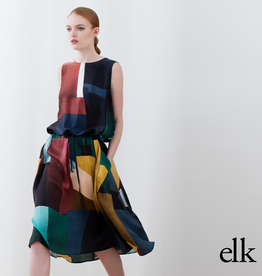 ELK Elk Muralla Silk Dress ON  SALE !!, PRINT, S