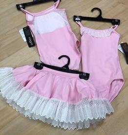 So Danca So Danca Tutu Skirt with lace trim, BALLET PINK, 4/6