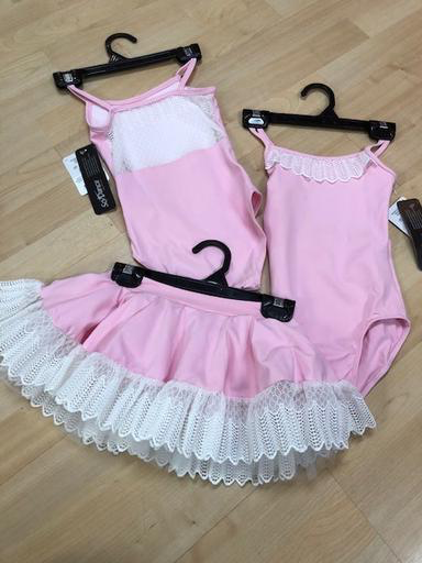 So Danca So Danca Tutu Skirt with lace trim, BALLET PINK, 4/6