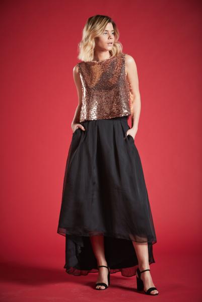 Angel Eye Angeleye L01-6997 Sophia Skirt, BLACK, S