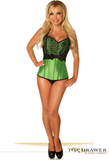 Daisy Corsets Daisy TD-474-Lace&Bow-Steel-Corset, GREEN, S